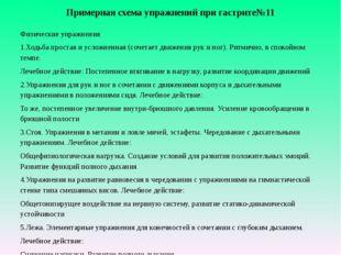 Примерная схема упражнений при гастрите№11 Физические упражнения 1.Ходьба пр