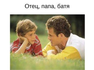 Отец, папа, батя