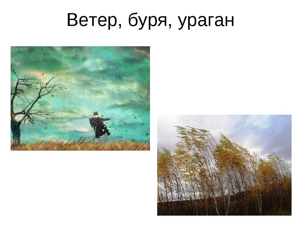 Ветер, буря, ураган
