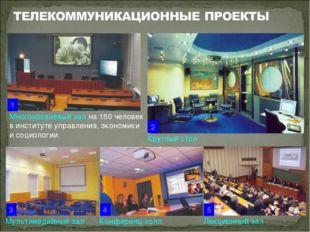 Многоуровневый зал на 150 человек в институте управления, экономики и социоло