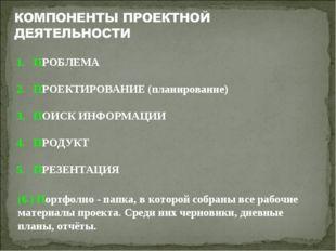 (6.) Портфолио - папка, в которой собраны все рабочие материалы проекта. Сред
