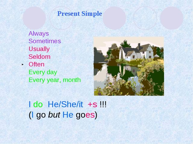 Present Simple Always Sometimes Usually Seldom Often Every day Every year, mo...