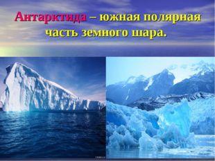 Антарктида – южная полярная часть земного шара.