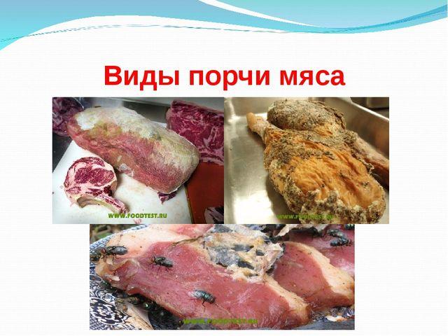 Виды порчи мяса