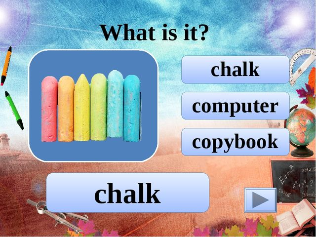 computer chalk copybook What is it? chalk