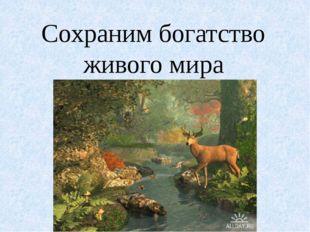 Сохраним богатство живого мира