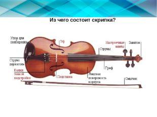 Из чего состоит скрипка?