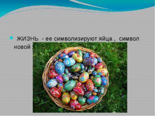 ЖИЗНЬ - ее символизируют яйца , символ новой жизни.