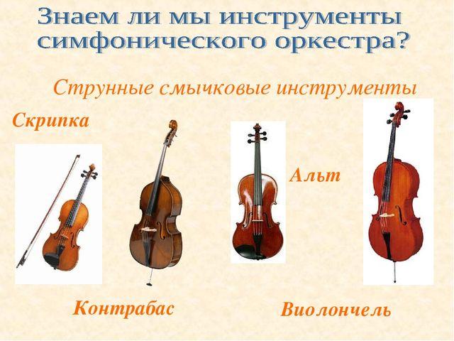 Скрипка Контрабас Альт Виолончель Струнные смычковые инструменты