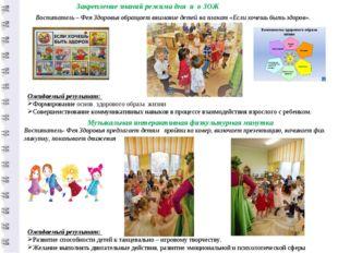 Воспитатель – Фея Здоровья обращает внимание детей на плакат «Если хочешь быт