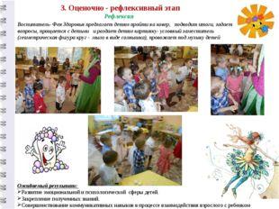 3. Оценочно - рефлексивный этап Воспитатель- Фея Здоровья предлагает детям пр