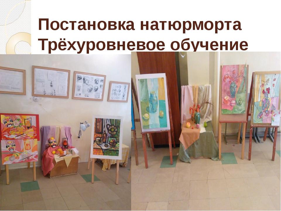 Постановка натюрморта Трёхуровневое обучение