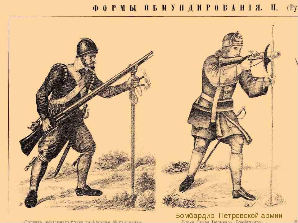 Бомбардир Петровской армии