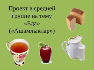 Проект в средней группе на тему «Еда» («Ашамлыклар»)