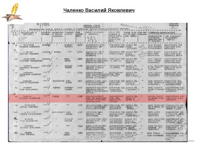 Чаленко Василий Яковлевич