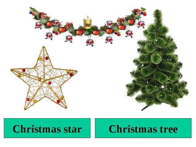 Christmas tree Christmas star
