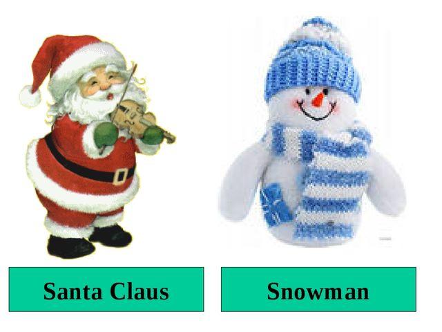 Santa Claus Snowman