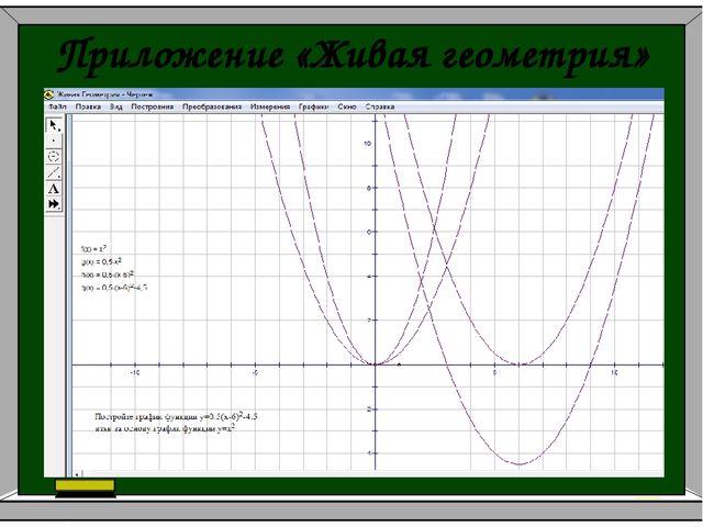 Приложение «Живая геометрия»