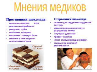 Противники шоколада: виновник лишнего веса высокая калорийность разрушает зуб