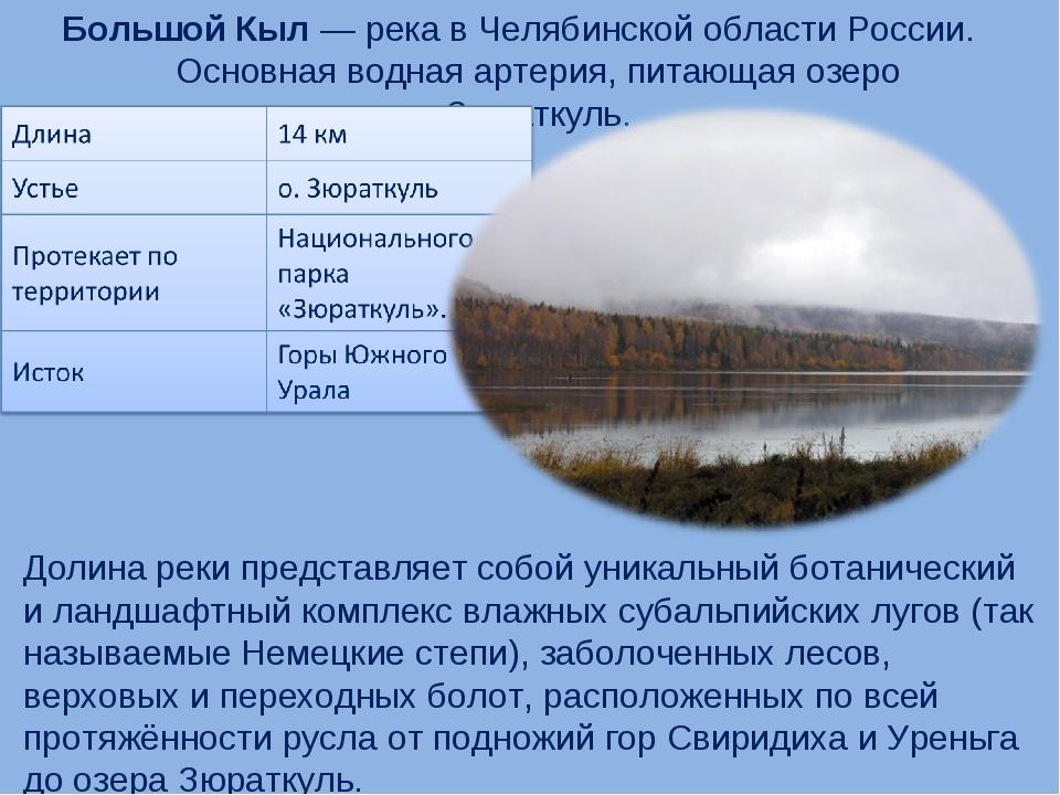 Большой Кыл — река в Челябинской области России. Основная водная артерия, пит...