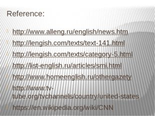 Reference: http://www.alleng.ru/english/news.htm http://lengish.com/texts/tex