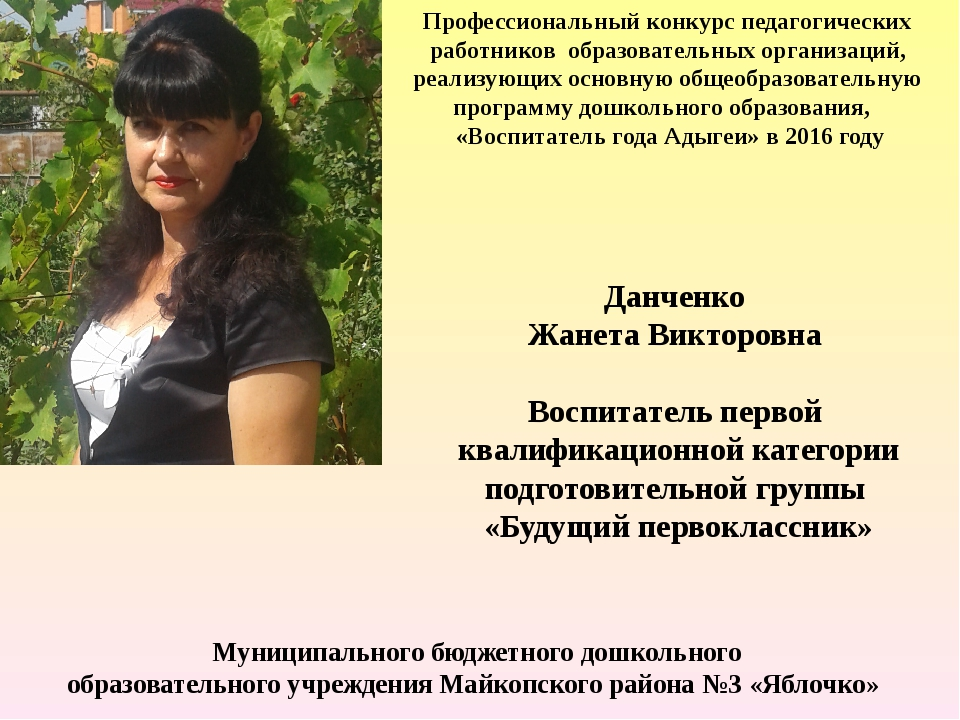 Профессиональный конкурс педагогических работников образовательных организаци...