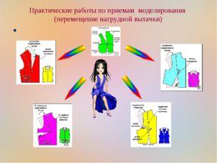 Практические работы по приемам моделирования (перемещение нагрудной вытачки)