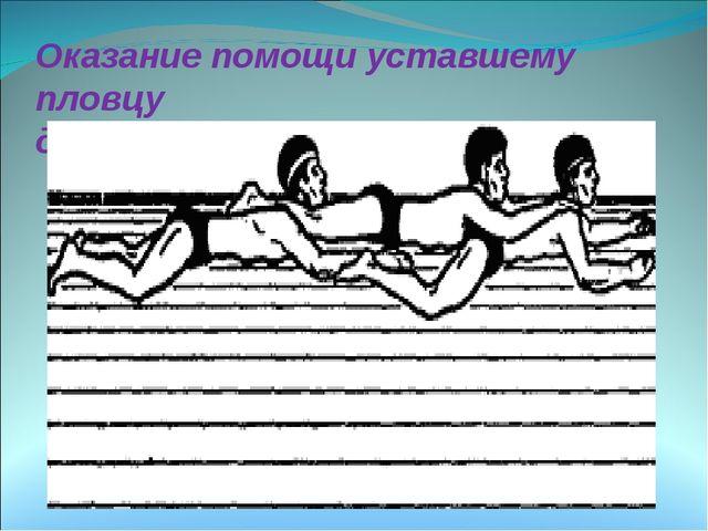 Оказание помощи уставшему пловцу двумя спасателями Оказание помощи пострадав...