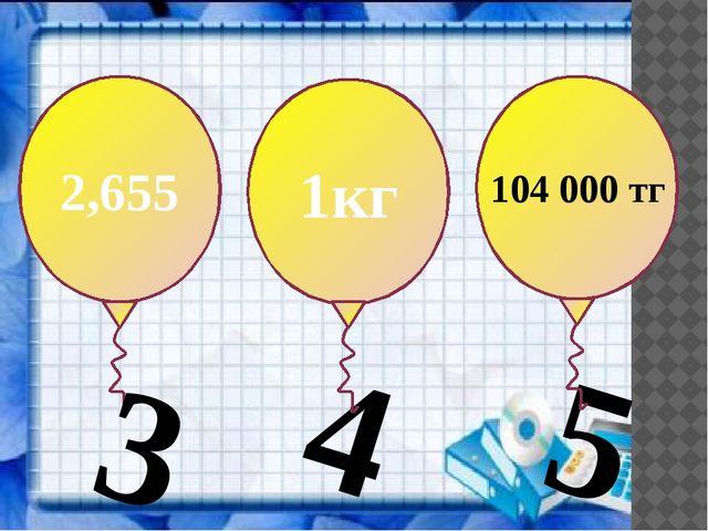 3 2,655 4 1кг 5 104000 тг