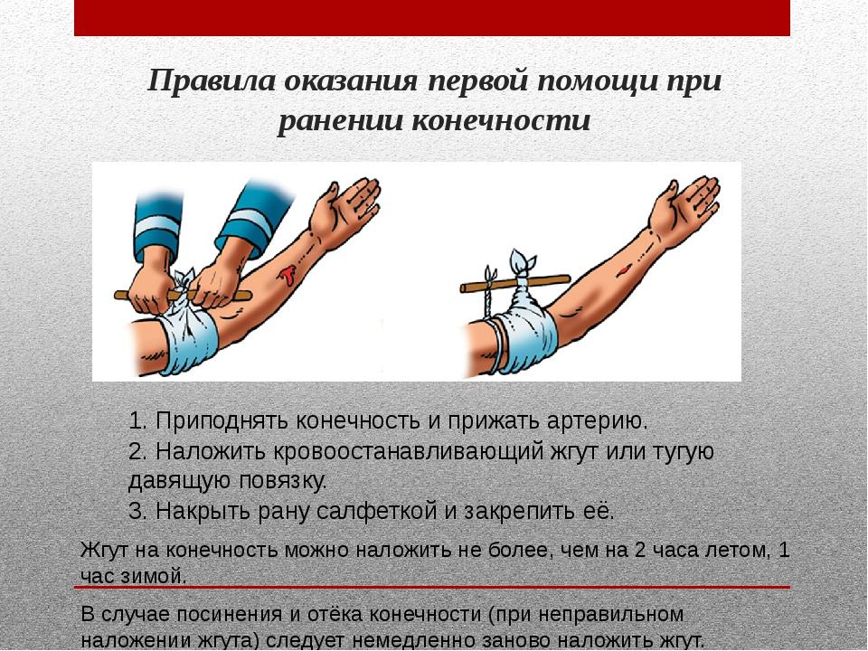Оказание первой помощи при ранениях в картинках