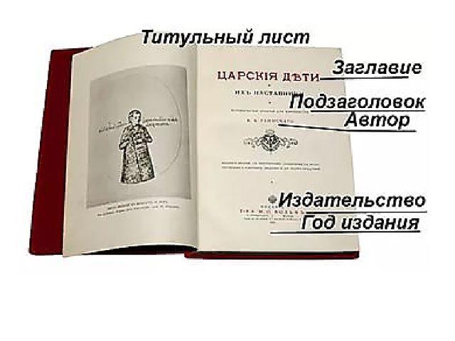 Книга начинается титульным листом.