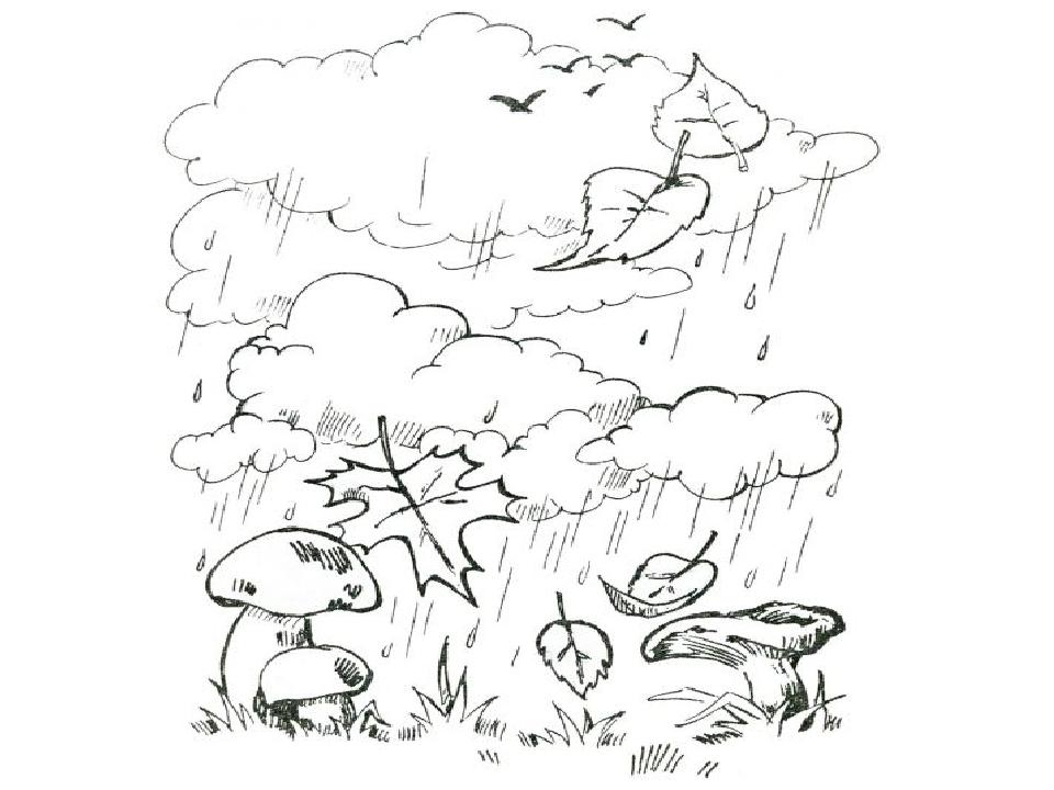 Осенние явления природы в картинках для детей