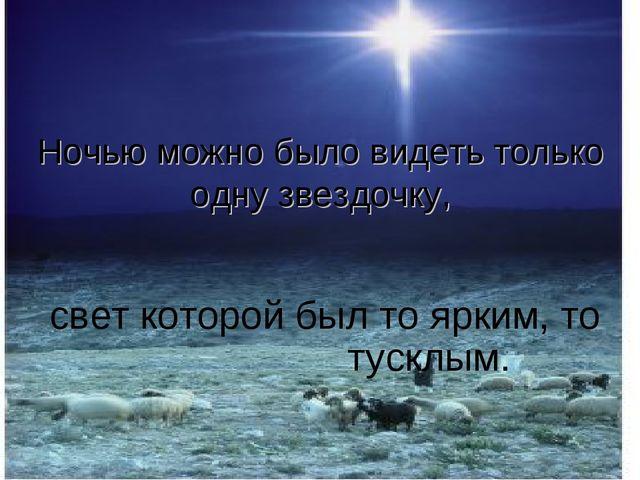 Ночью можно было видеть только одну звездочку, свет которой был то ярким, то...
