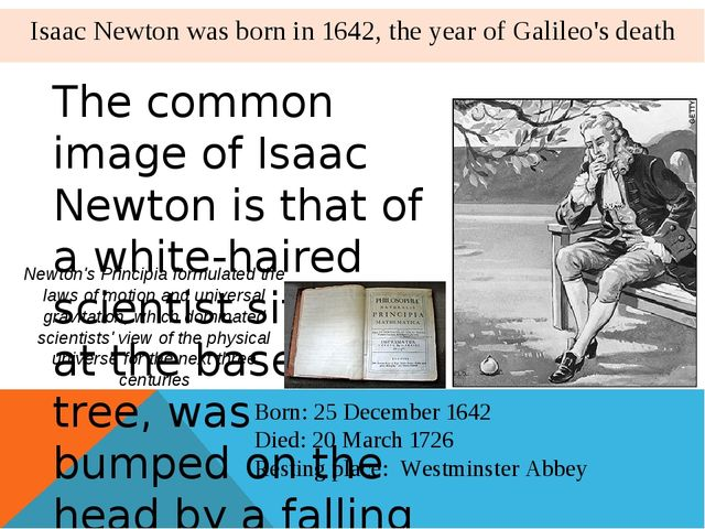 The common image of Isaac Newton is that of a white-haired scientist sitting...