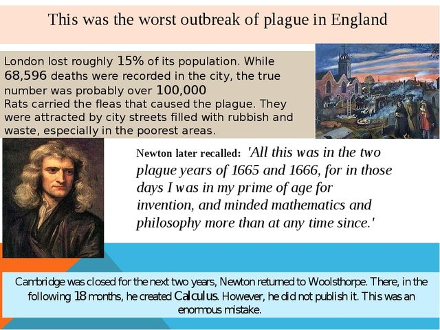 This was the worst outbreak of plague in England London lost roughly 15% of i...