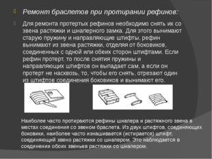 Ремонт браслетов при протирании рефинов: Для ремонта протертых рефинов необхо