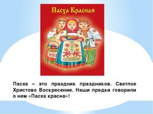Пасха – это праздник праздников. Светлое Христово Воскресение. Наши предки го