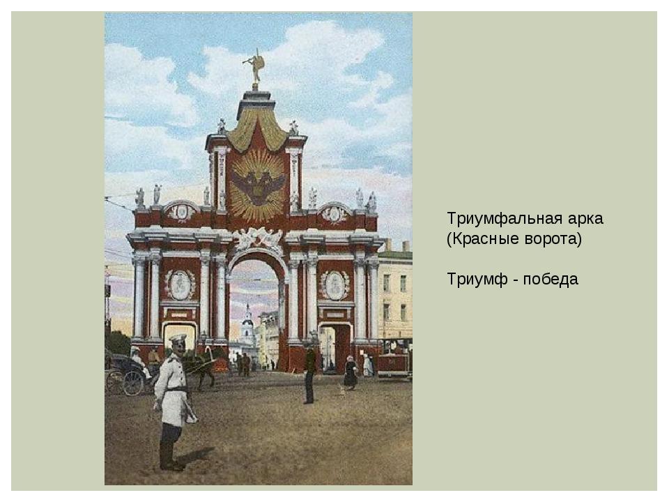 Триумфальная арка (Красные ворота) Триумф - победа