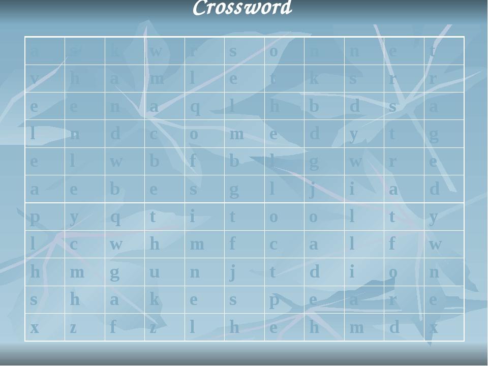 Crossword a s k w r s o n n e t v h a m l e t k s r r e e n a q l h b d s a l...