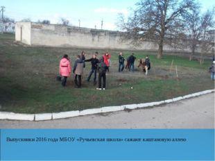 Выпускники 2016 года МБОУ «Ручьевская школа» сажают каштановую аллею
