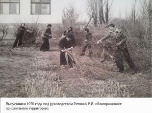Выпускники 1970 года под руководством Ретявко Р.И. облагораживают пришкольную