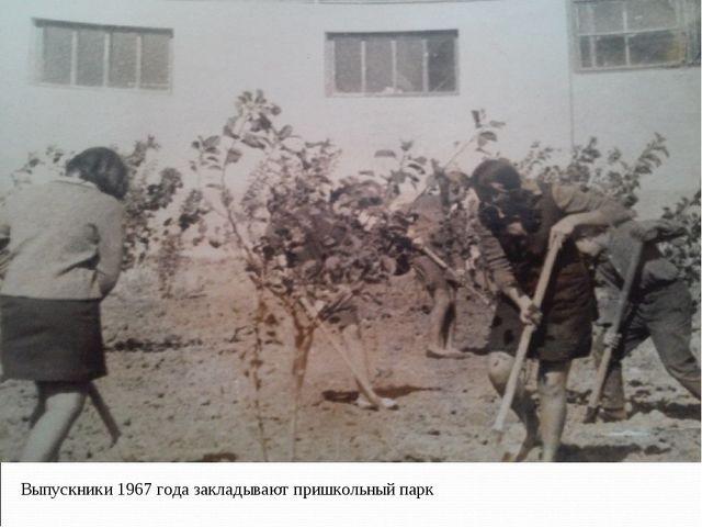 Выпускники 1967 года закладывают пришкольный парк