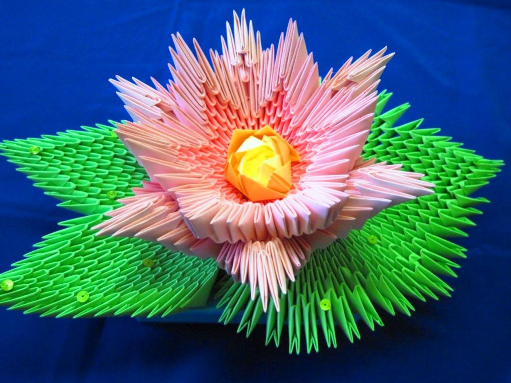Оригами из бумаги из модулей картинки