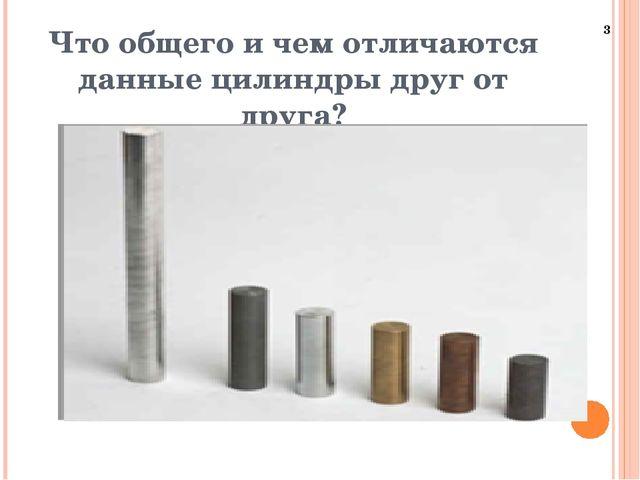Что общего и чем отличаются данные цилиндры друг от друга? 3