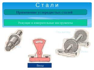 С т а л и Применение углеродистых сталей Детали машин и металлические констру