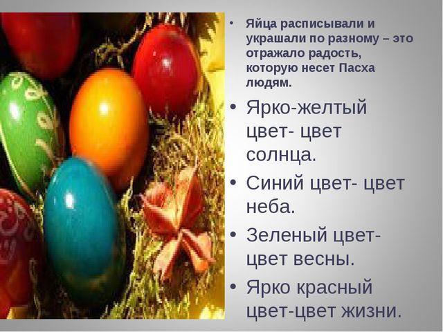 Яйца расписывали и украшали по разному – это отражало радость, которую несет...