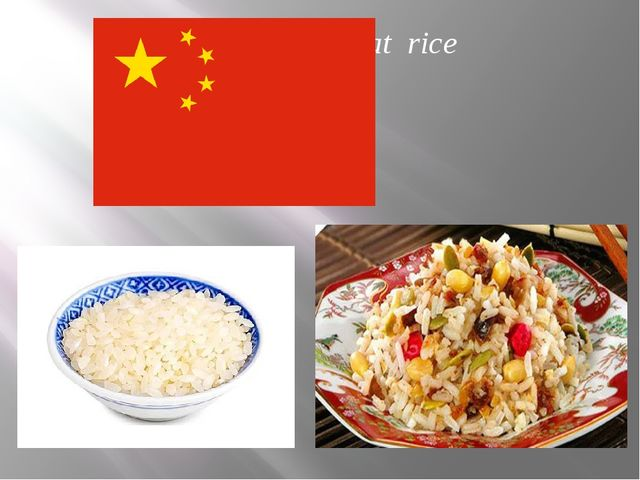 In they eat rice