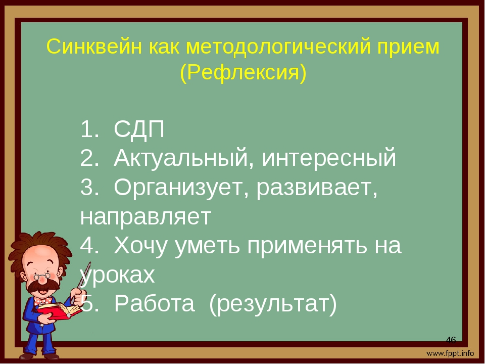 Синквейн как методологический прием (Рефлексия) * 1. СДП 2. Актуальный, инте...