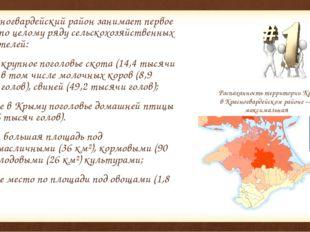 Красногвардейский район занимает первое место по целому ряду сельскохозяйств