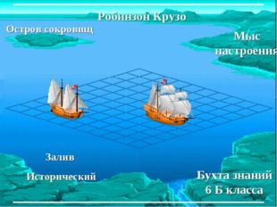Остров сокровищ Бухта знаний 6 Б класса Робинзон Крузо Залив Исторический Мыс